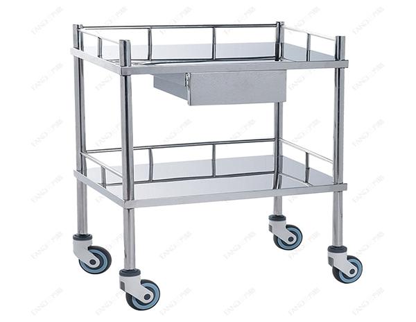 不锈钢治疗车JHTC-01